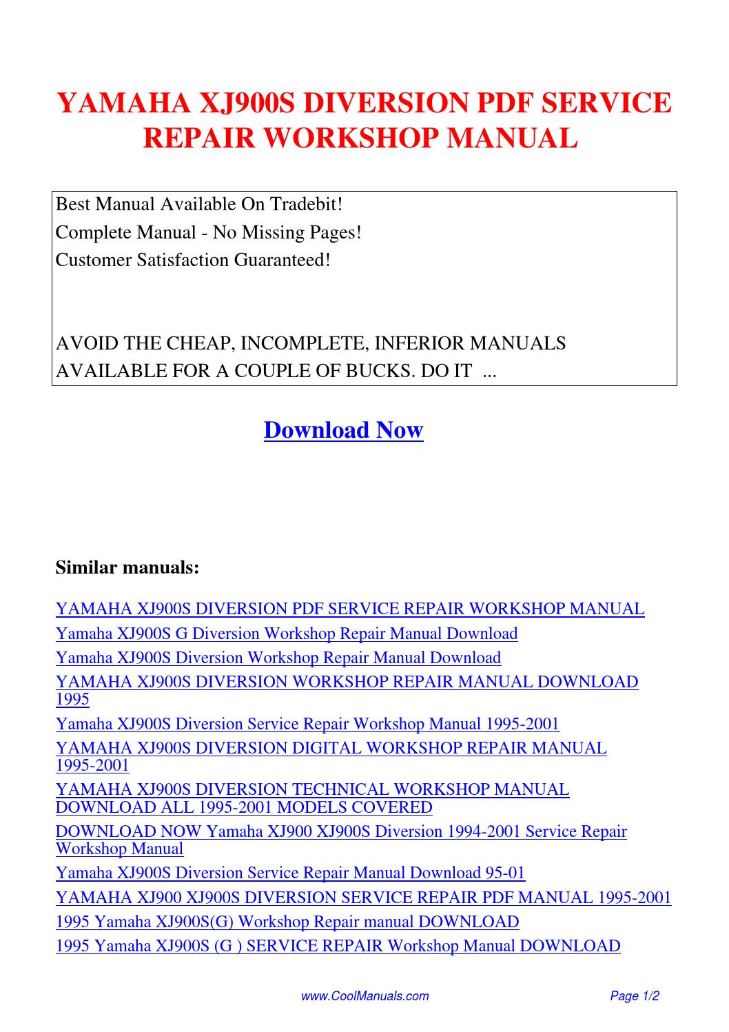 ... Array - yamaha xj900s diversion service repair workshop manual pdf by  guang rh issuu com
