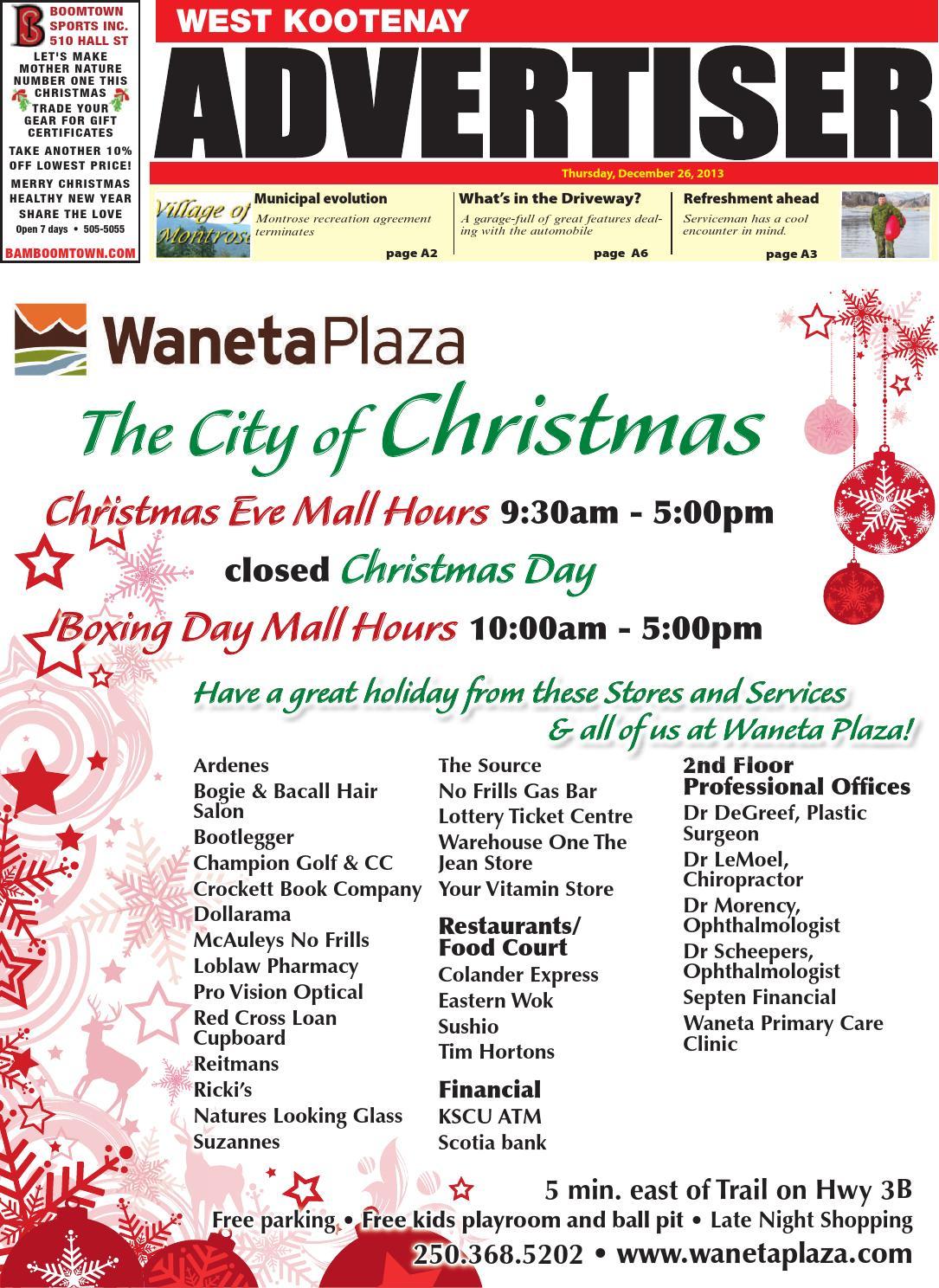 West Kootenay Advertiser, December 26, 2013 by Black Press - issuu