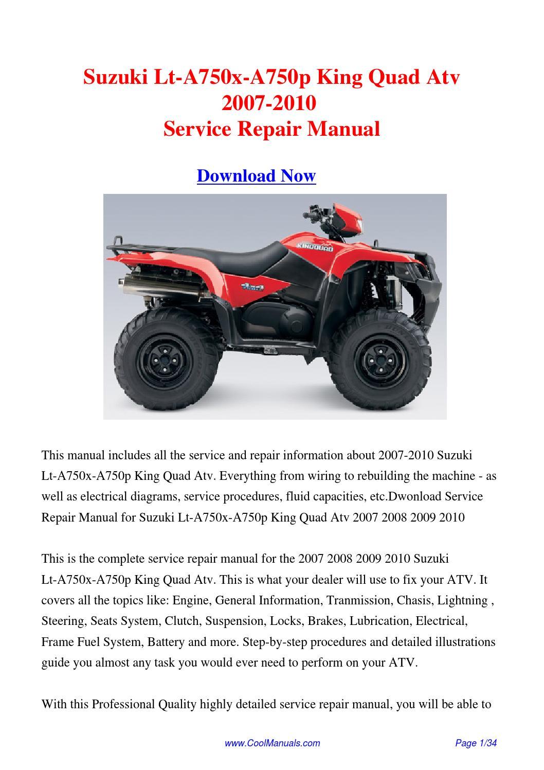 suzuki king quad manual pdf