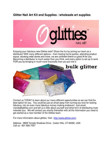 Glitter Nail Art Kit And Supplies Wholesale Art Supplies By