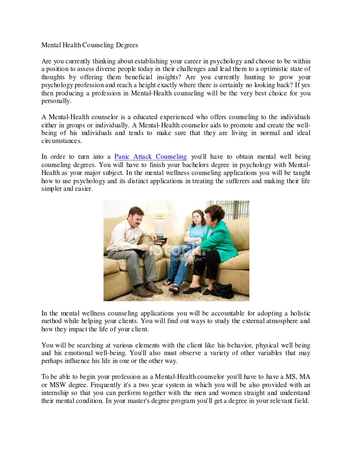 Mental Health Counseling Degree1 By Ninespere Issuu