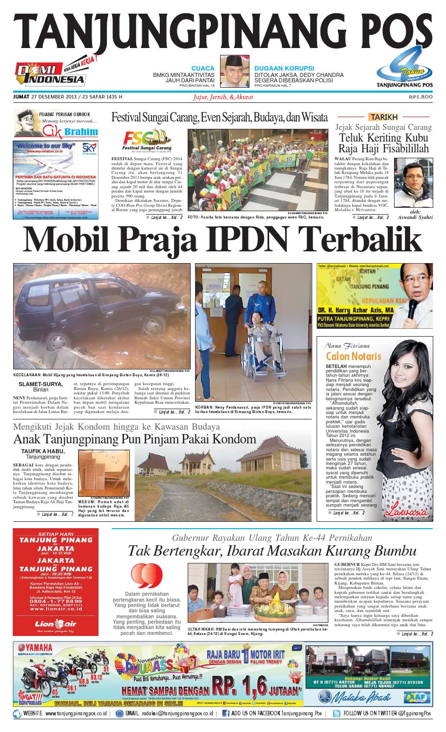 Epaper Tanjungpinangpos 27 Desember 2013 By Tanjungpinangpos Issuu