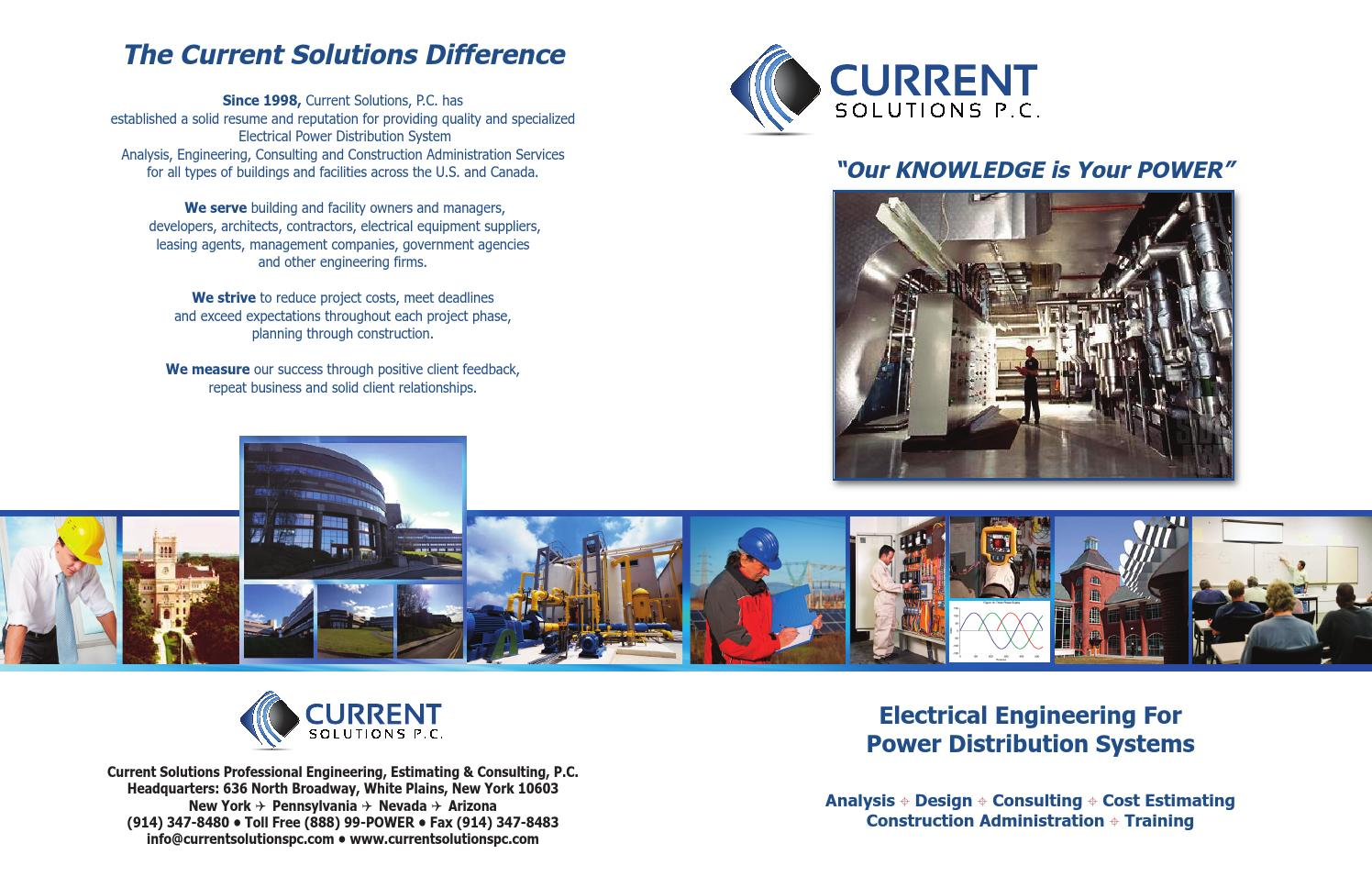 Brochure electrical engineering company ny by Current