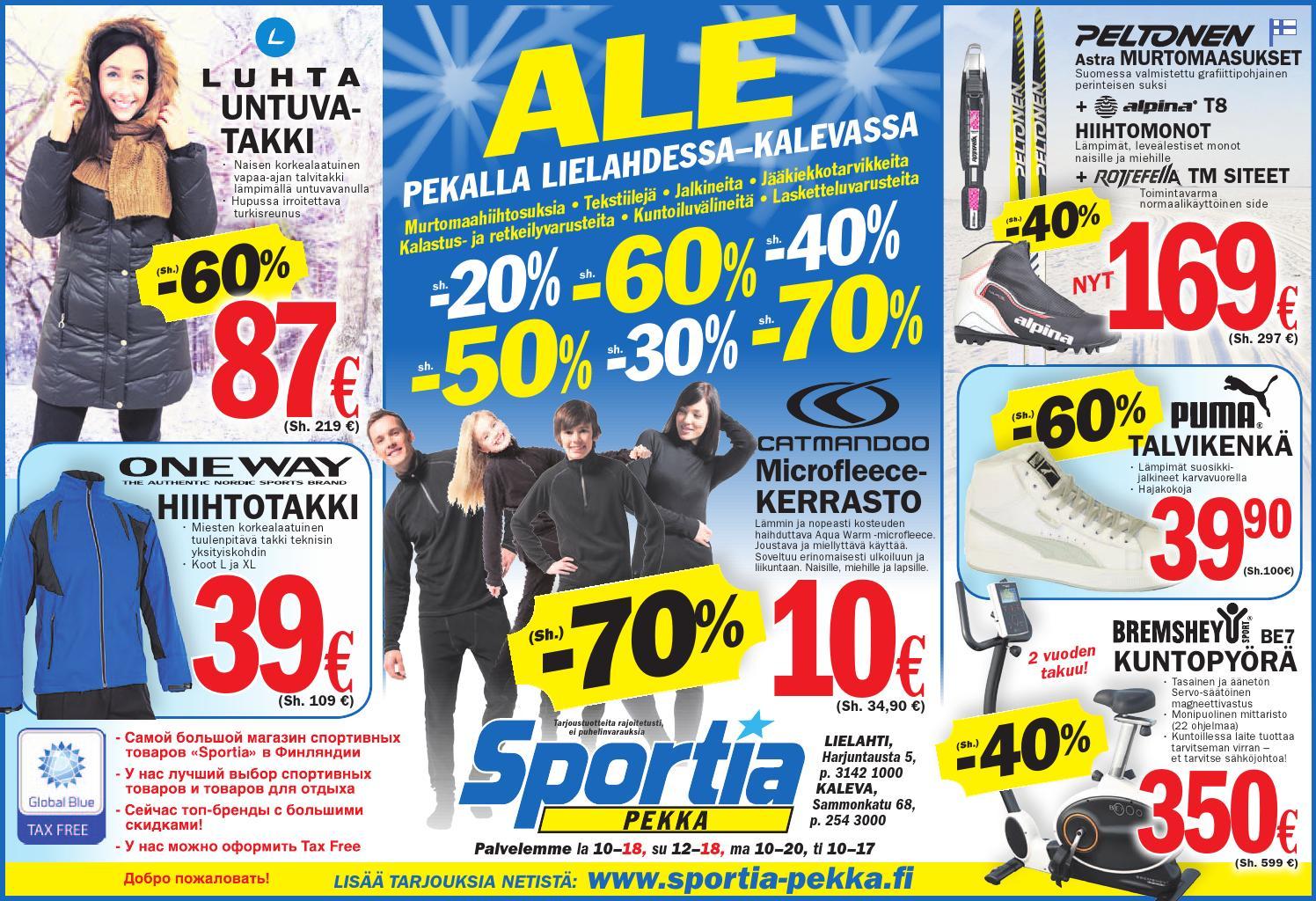 Sportia-Pekan viikonlopunmainos 27.12. - 29.12.2013 by Sportia-Pekka Sportia-Pekka - Issuu