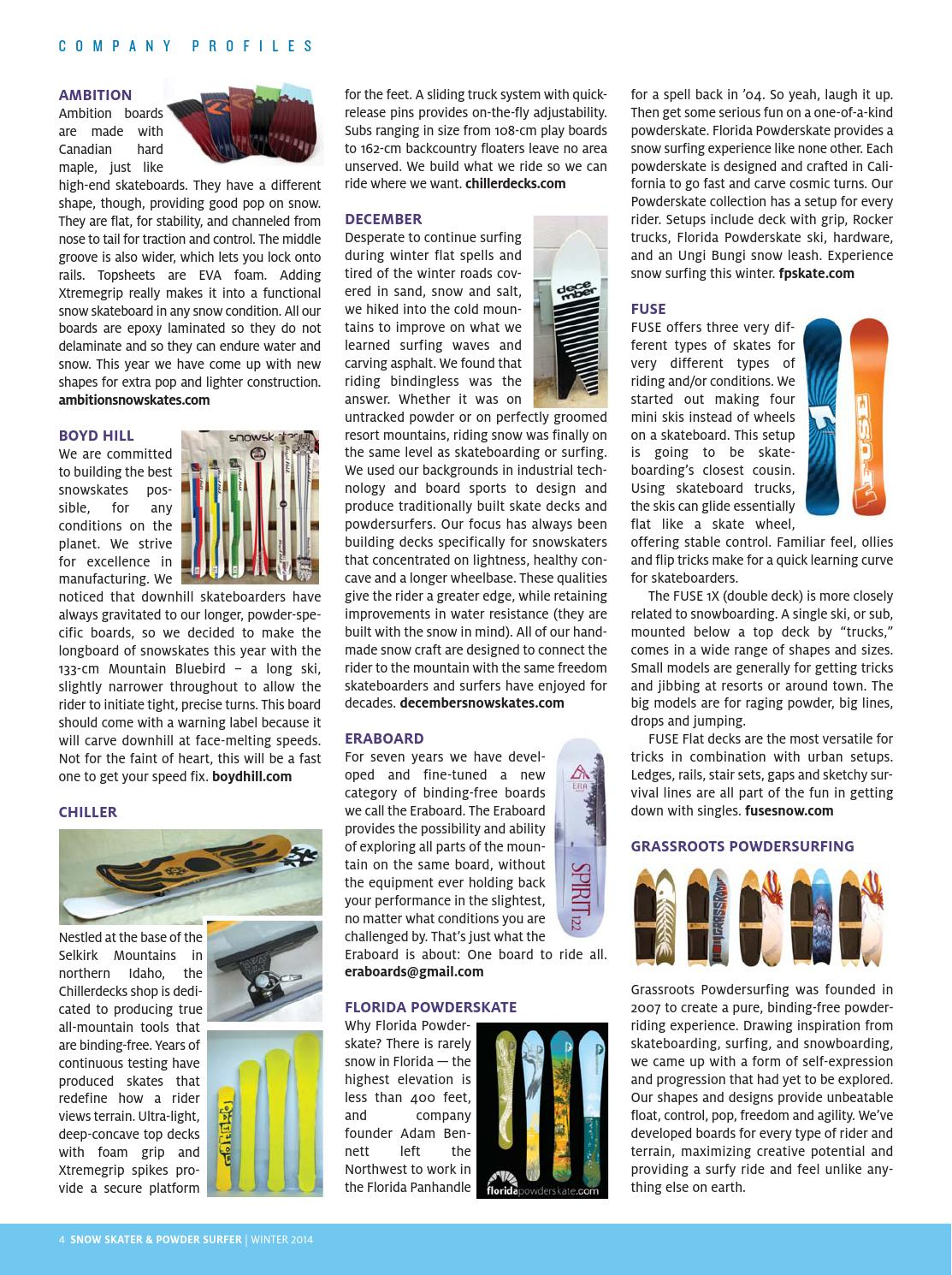 Snow Skater & Powder Surfer by Concrete Wave Magazine - issuu