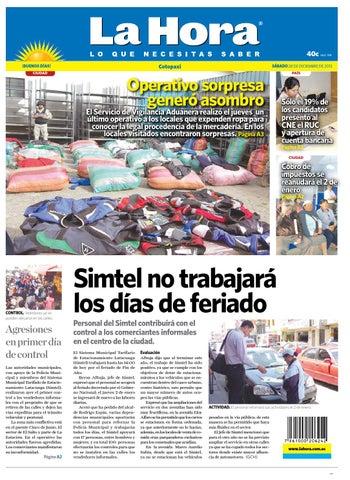 9c75dcea43430 La Hora Cotopaxi 28 de diciembre 2013 by Diario La Hora Ecuador - issuu