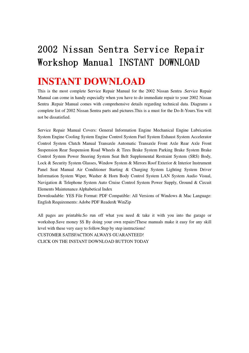 Nissan Sentra Service Manual: Can