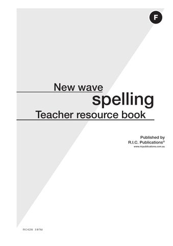 New wave spelling teachers resource book level f ages 10 11 by page 1 fandeluxe Images