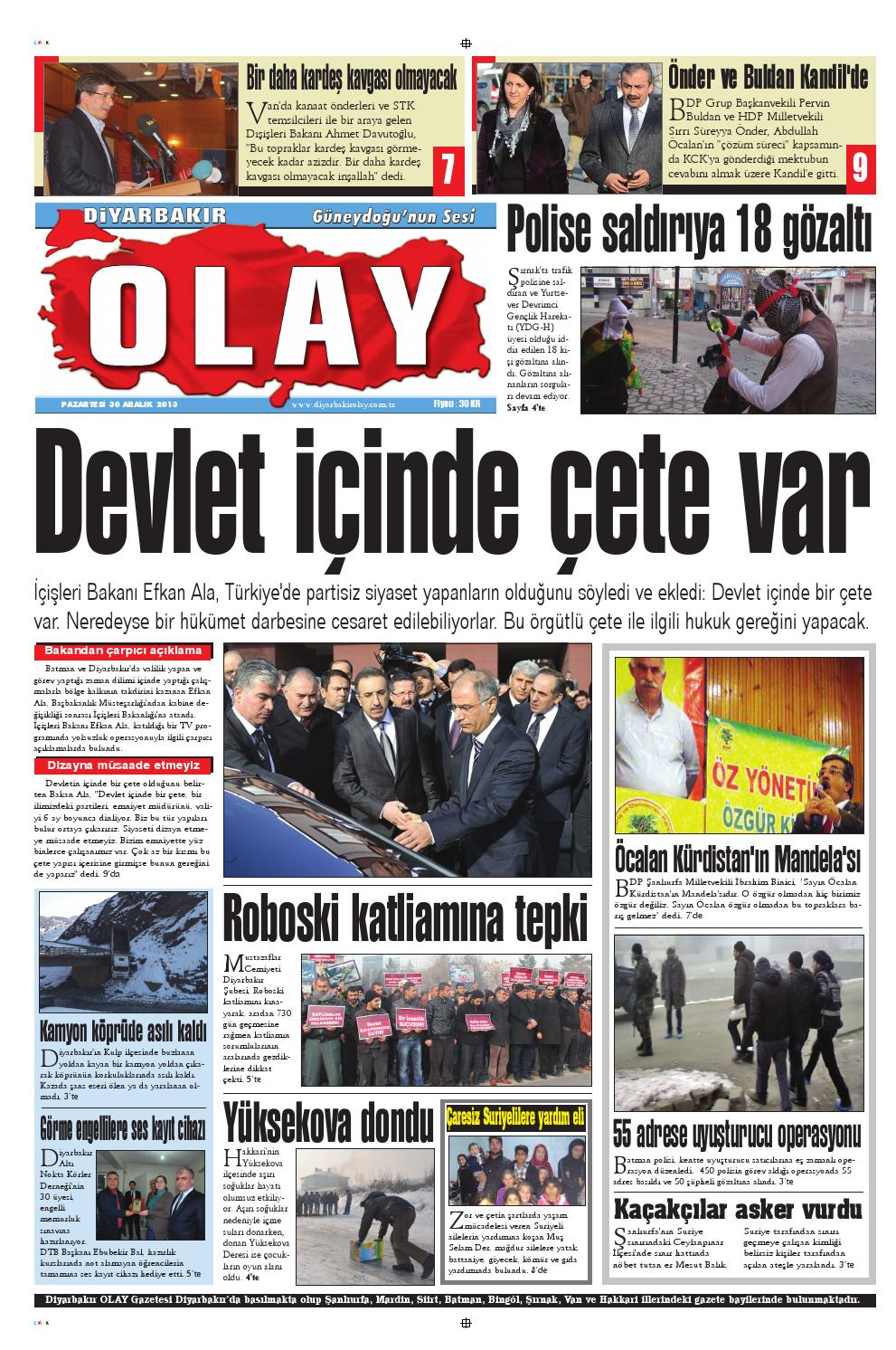 30 12 2013 Gazete Sayfalari By Diyarbakir Olaygazetesi Issuu