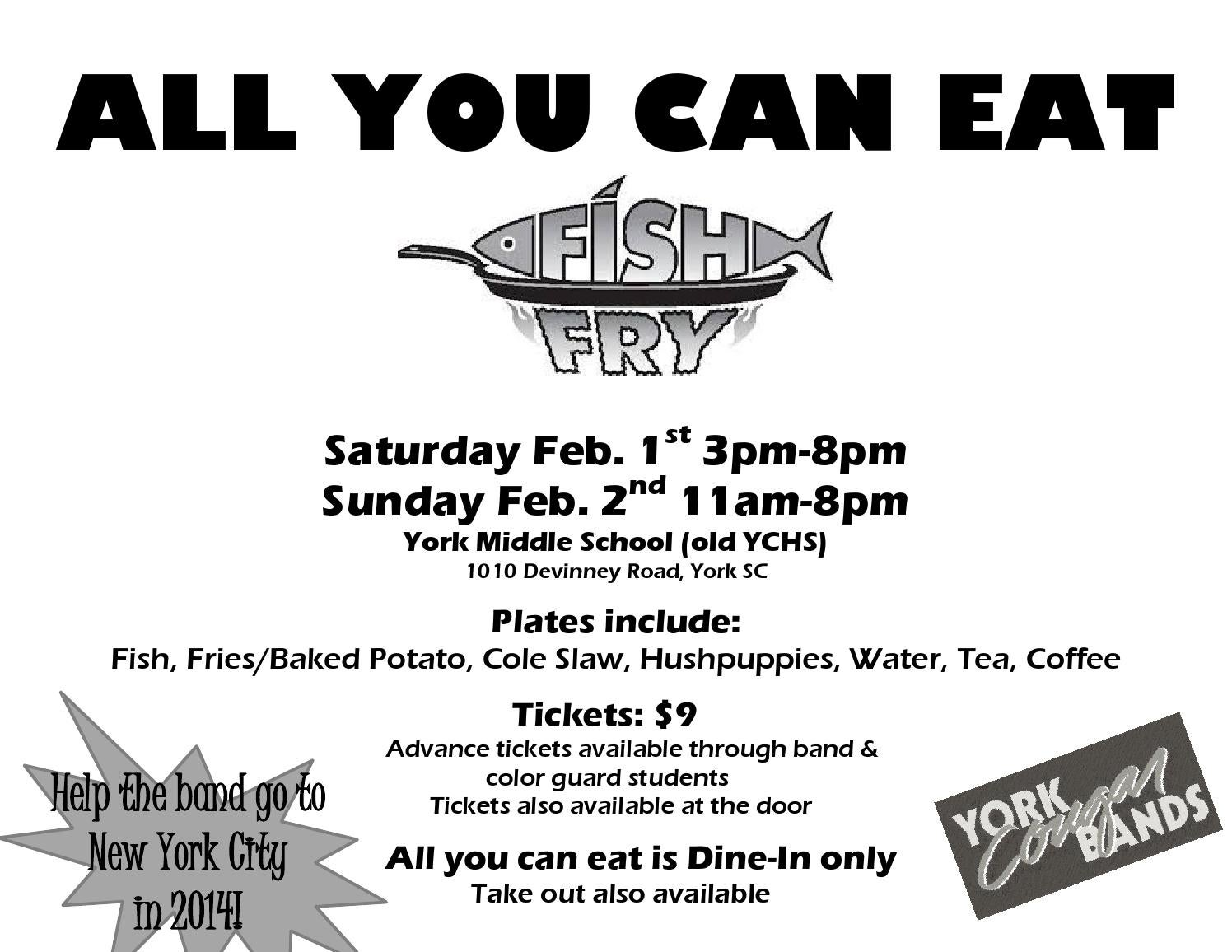York cougar bands feb fish fry by laura brooks issuu for All you can eat fish fry