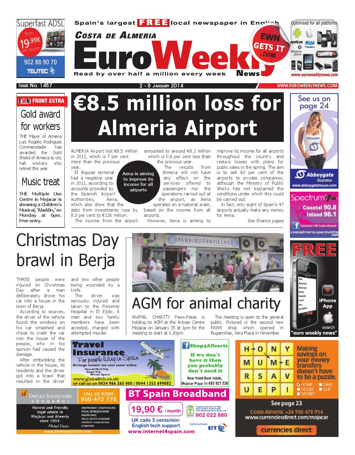 Euro Weekly News Costa De Almeria 2 8 January 2014 Issue 1487  # Muebles Rogelio Nerja