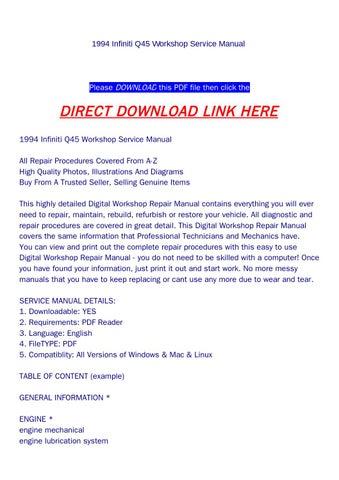1994 infiniti q45 workshop service manual by backoiiew2 issuu rh issuu com 94 Infiniti Q45 99 Infiniti Q45