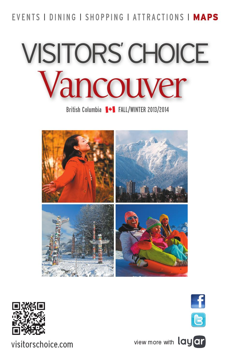 Visitors' Choice Vancouver Fall/Winter 2013/2014 by Business in Vancouver  Media Group - issuu
