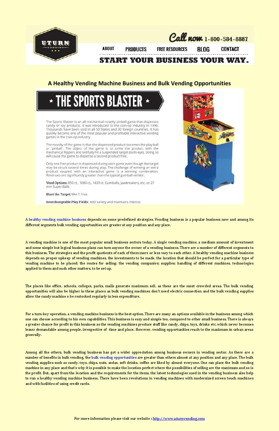 healthy vending machines business plan