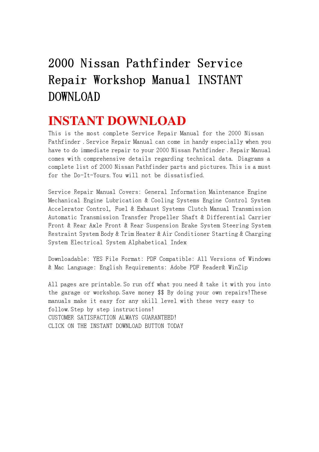 2000 nissan pathfinder service repair workshop manual instant download by  fjhsegfnnse - issuu