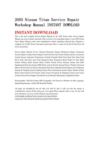 2005 nissan titan repair manuals