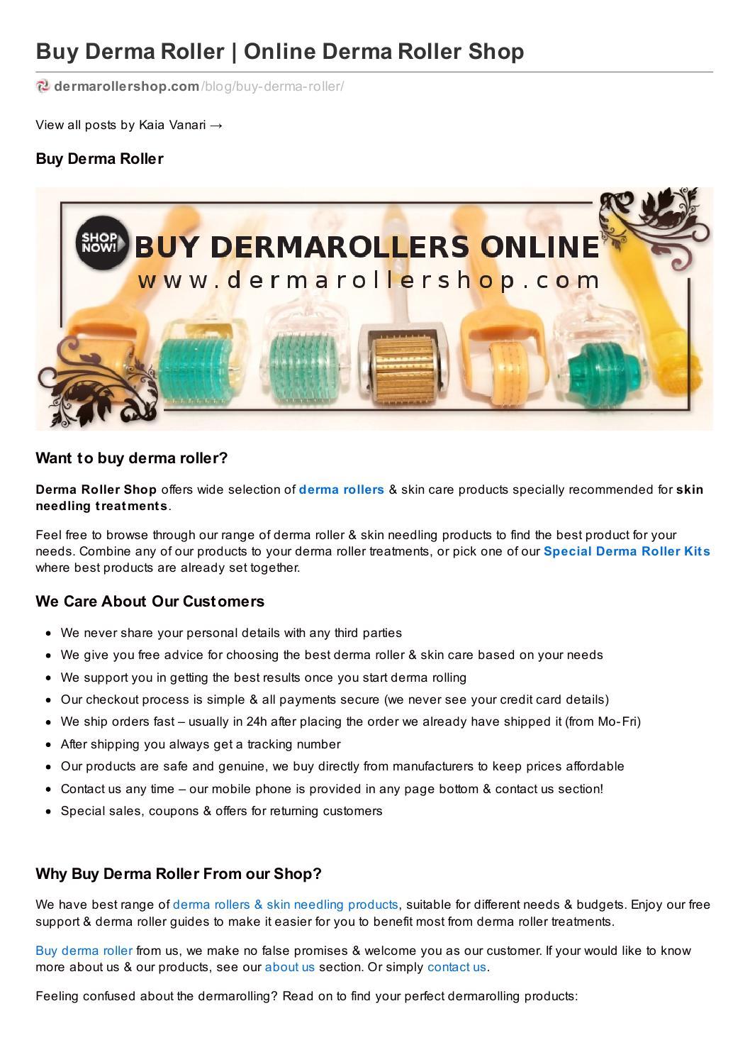 Dermarollershop Com Buy Dermaroller Online By Kaia Vanari Issuu