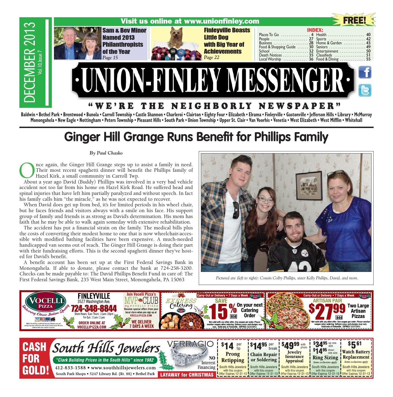 5b3cfee6303 Union Finley Messenger December 2013 by South Hills Mon Valley Messenger -  issuu