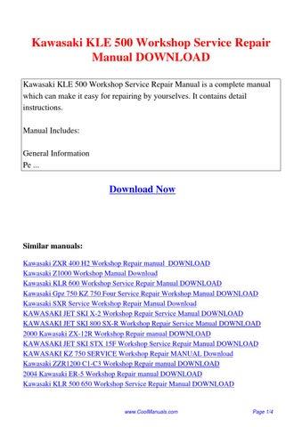 kawasaki klv1000 service workshop repair manual download