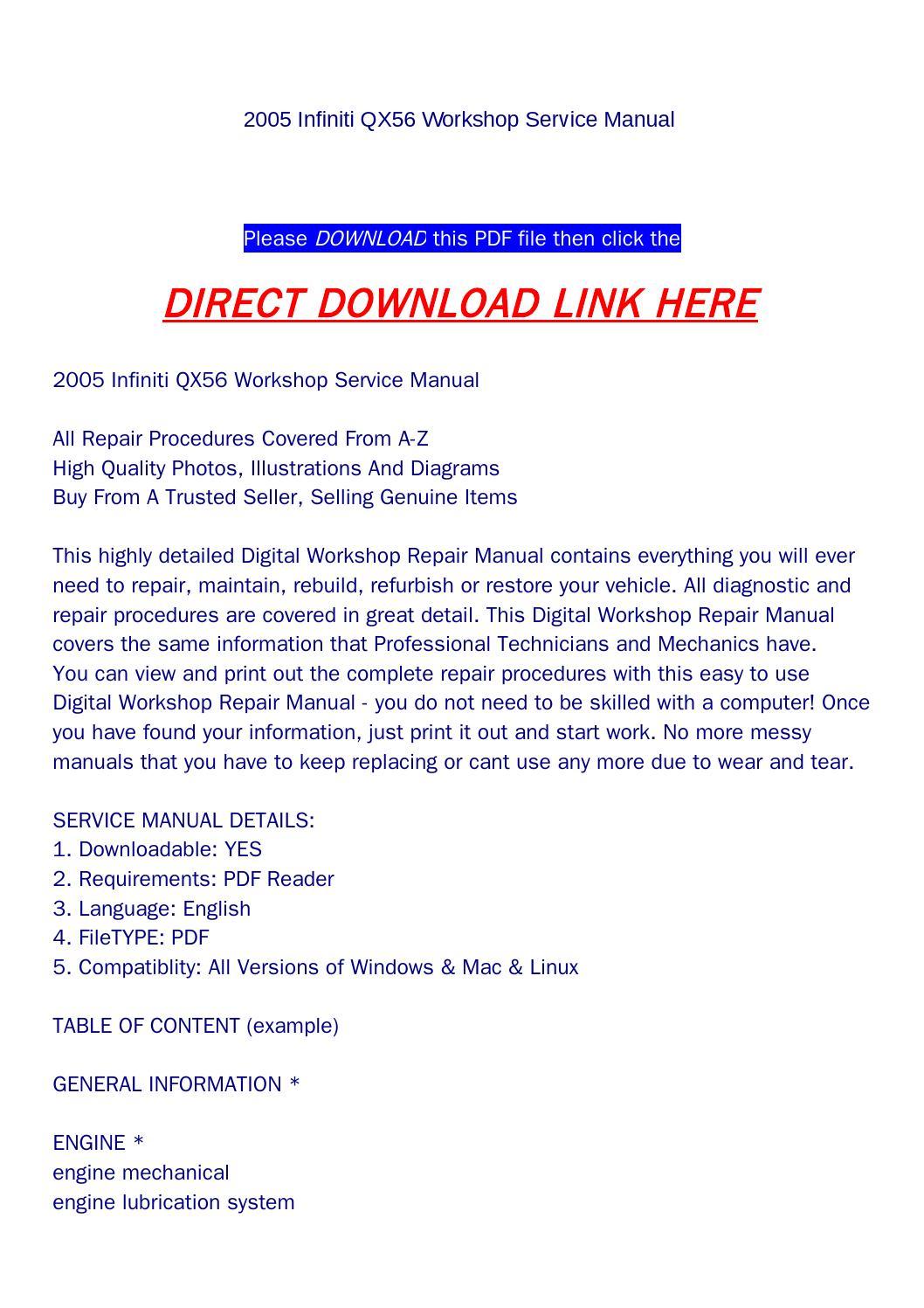 [ZHKZ_3066]  2005 infiniti qx56 workshop service manual by backoiiew2 - issuu   Wiring Diagram Rear Wiper Qx56      Issuu