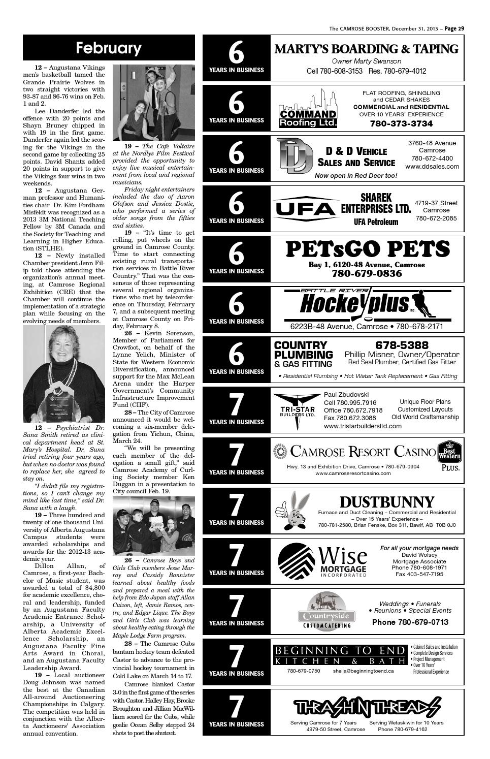 The Camrose Booster December 31 2013 By The Camrose Booster Issuu