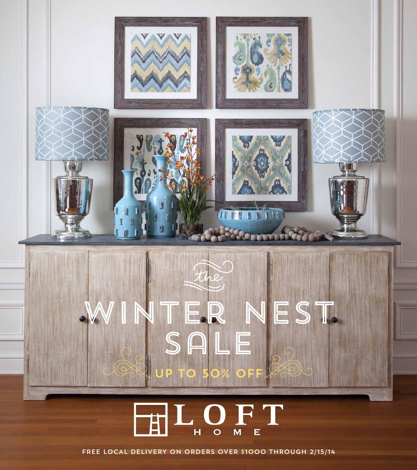 Winter Nest Sale 2014 By Loft Home Issuu