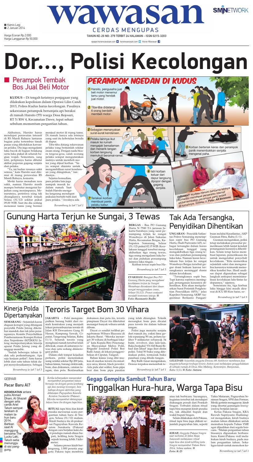 Wawasan 02 Januari 2014 By Koran Pagi Issuu Produk Ukm Bumn Nomor Rumah Motif Apel