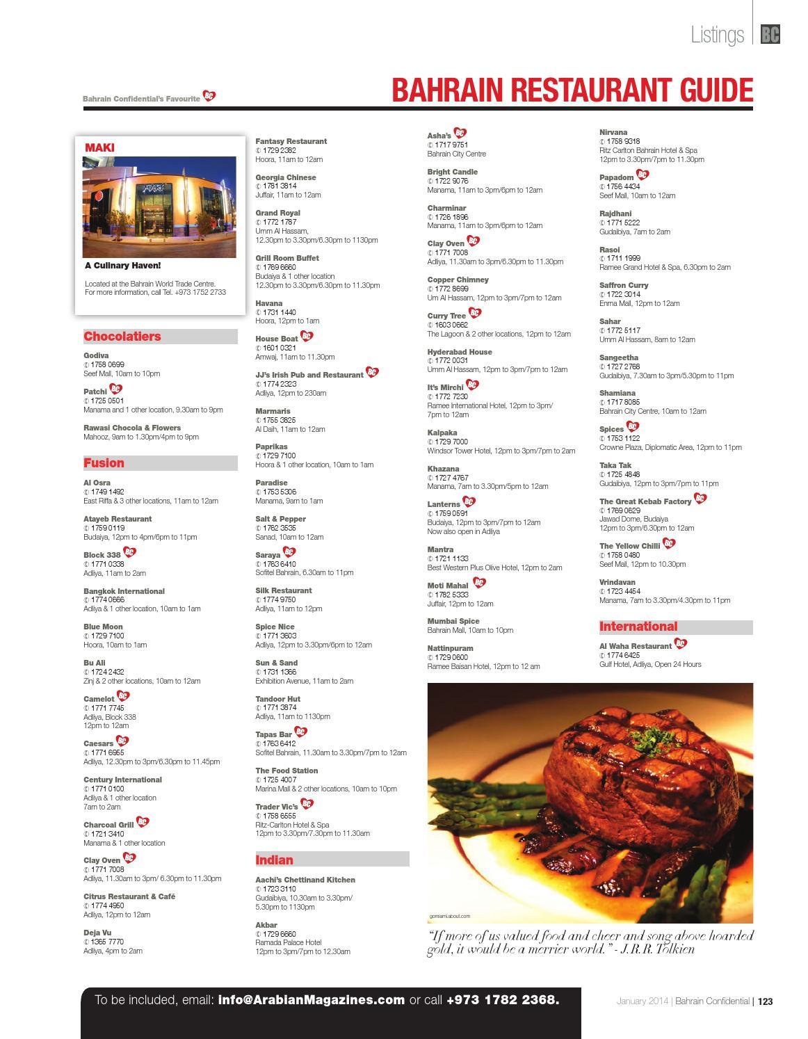 Fast Food Filipino Restaurant Bahrain Menu