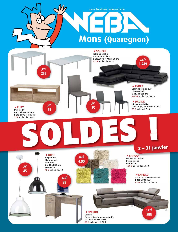 Soldes by weba meubelen issuu for Meuble bureau weba