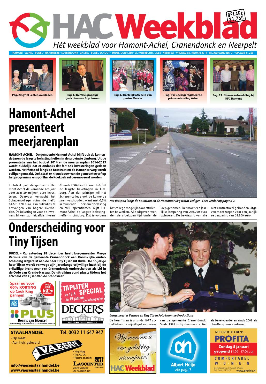 49af0390aa0f92 HAC Weekblad week 01 2014 by HAC Weekblad - issuu