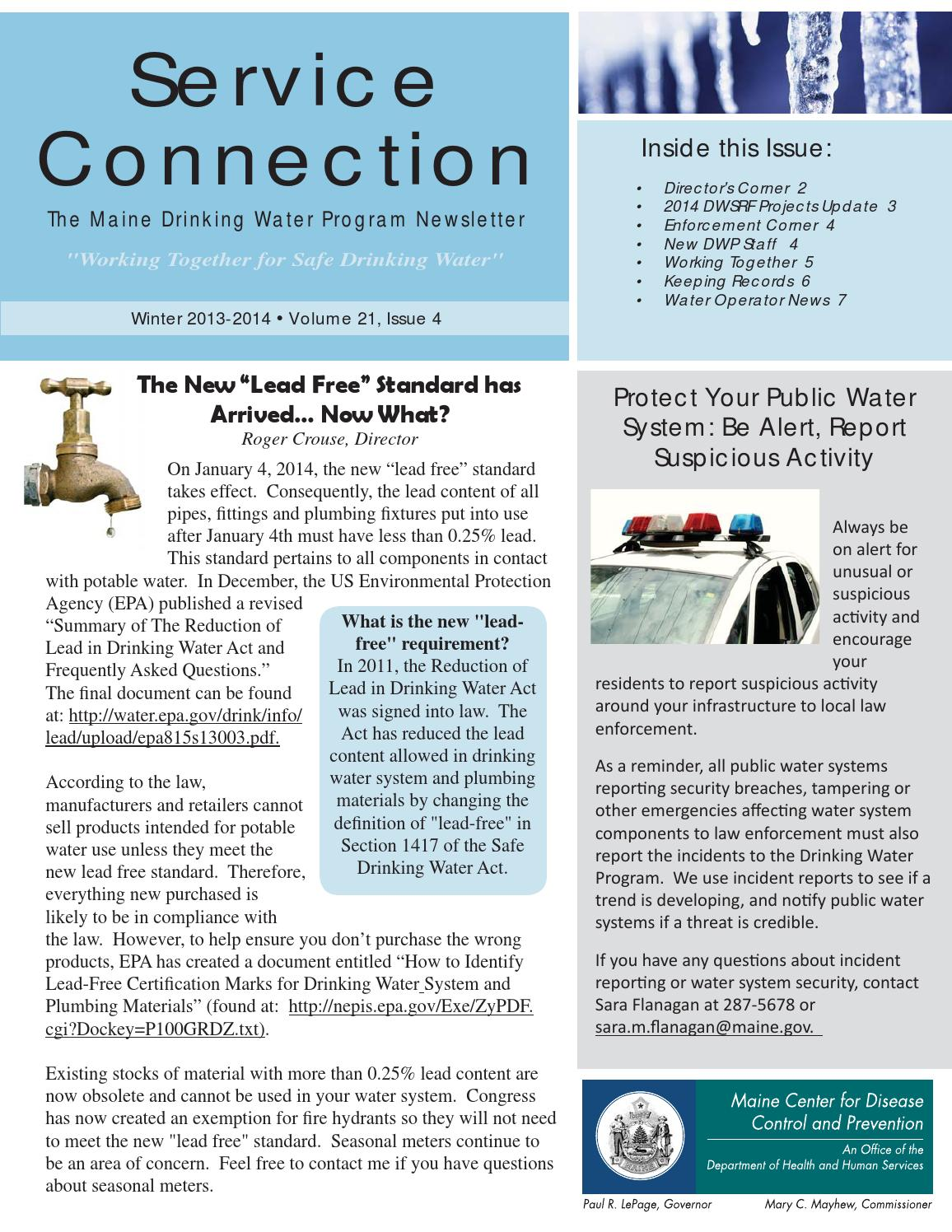 Winter 2013-2014 Service Connection Newsletter, Vol  21-4 by