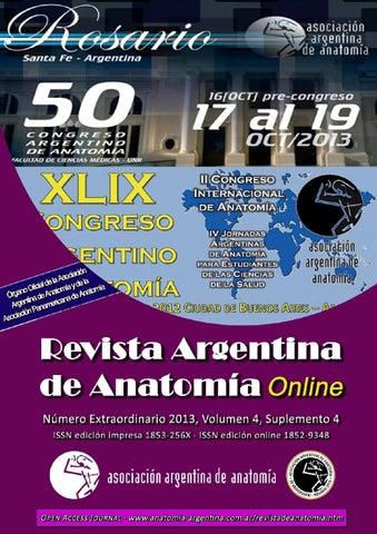 Revista Argentina de Anatomía Online 2013  4 (supl.4)  1-152. ISSN impresa  1853-256x   ISSN online 1852-9348 411abdc61a0f5