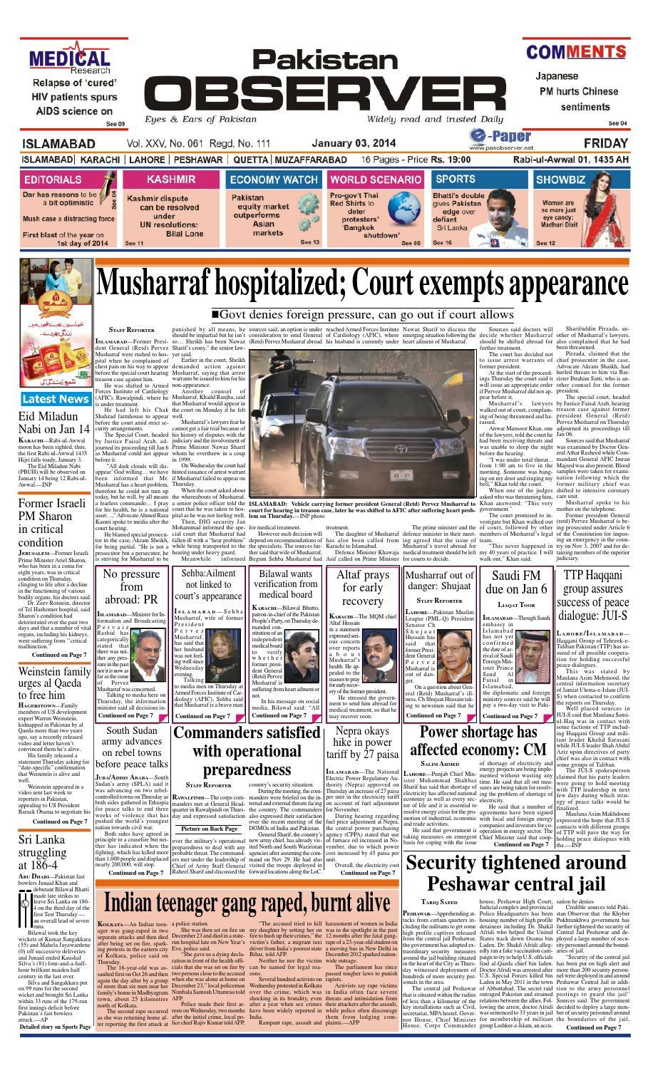Ep03january2014 by Pakistan Observer - issuu