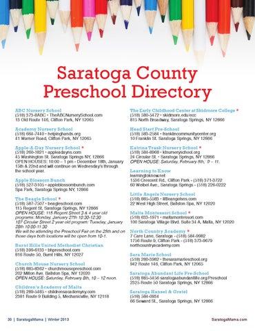 Saratoga County Preschool Directory Abc Nursery School