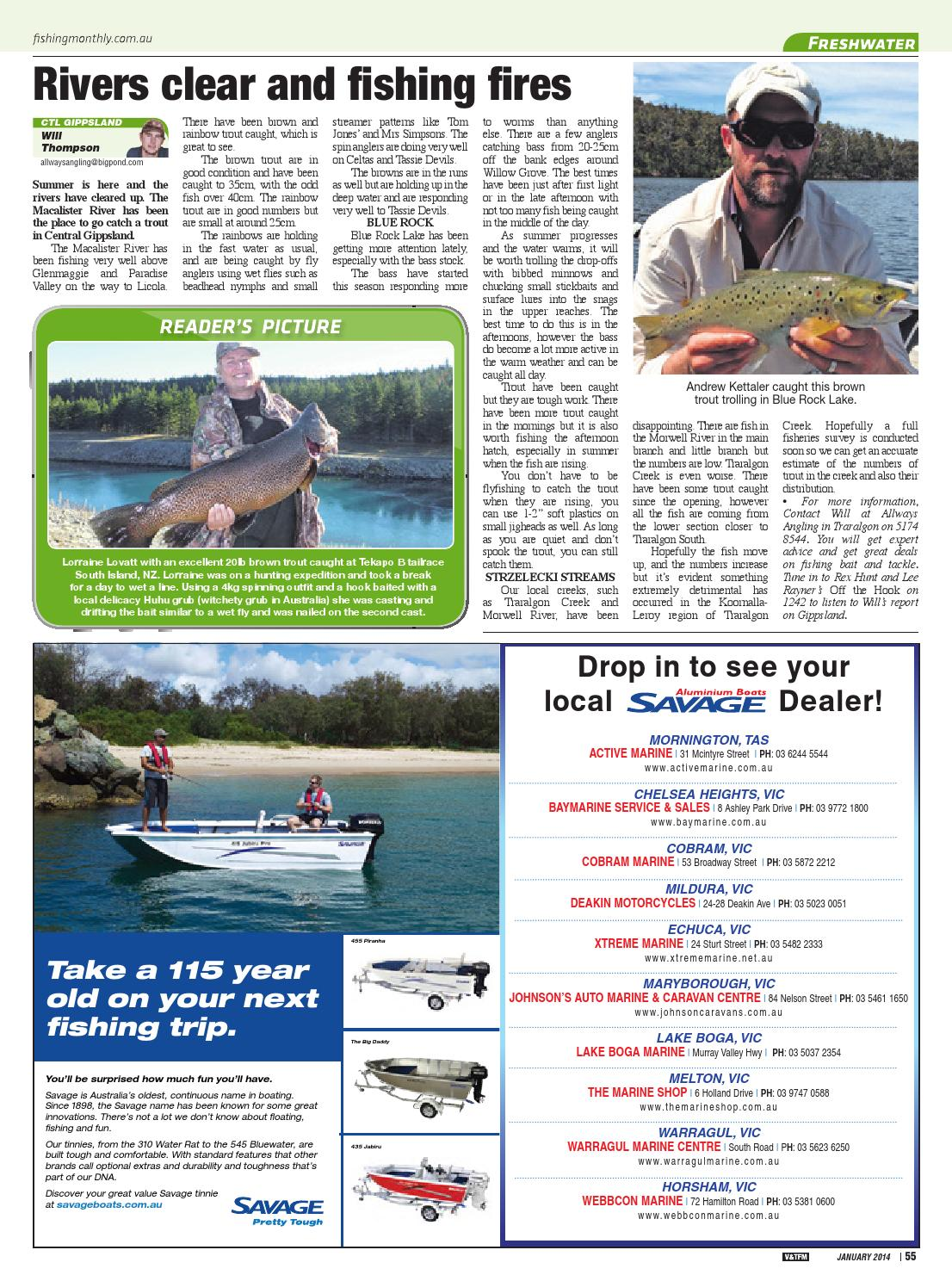 Victoria and Tasmania Fishing Monthly - January 2014 by