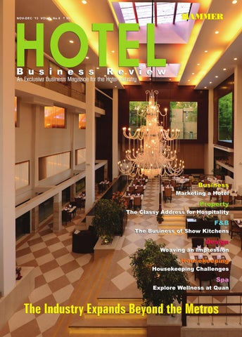 Hotel Business Review ( Nov-Dec 2013) The Business magazine