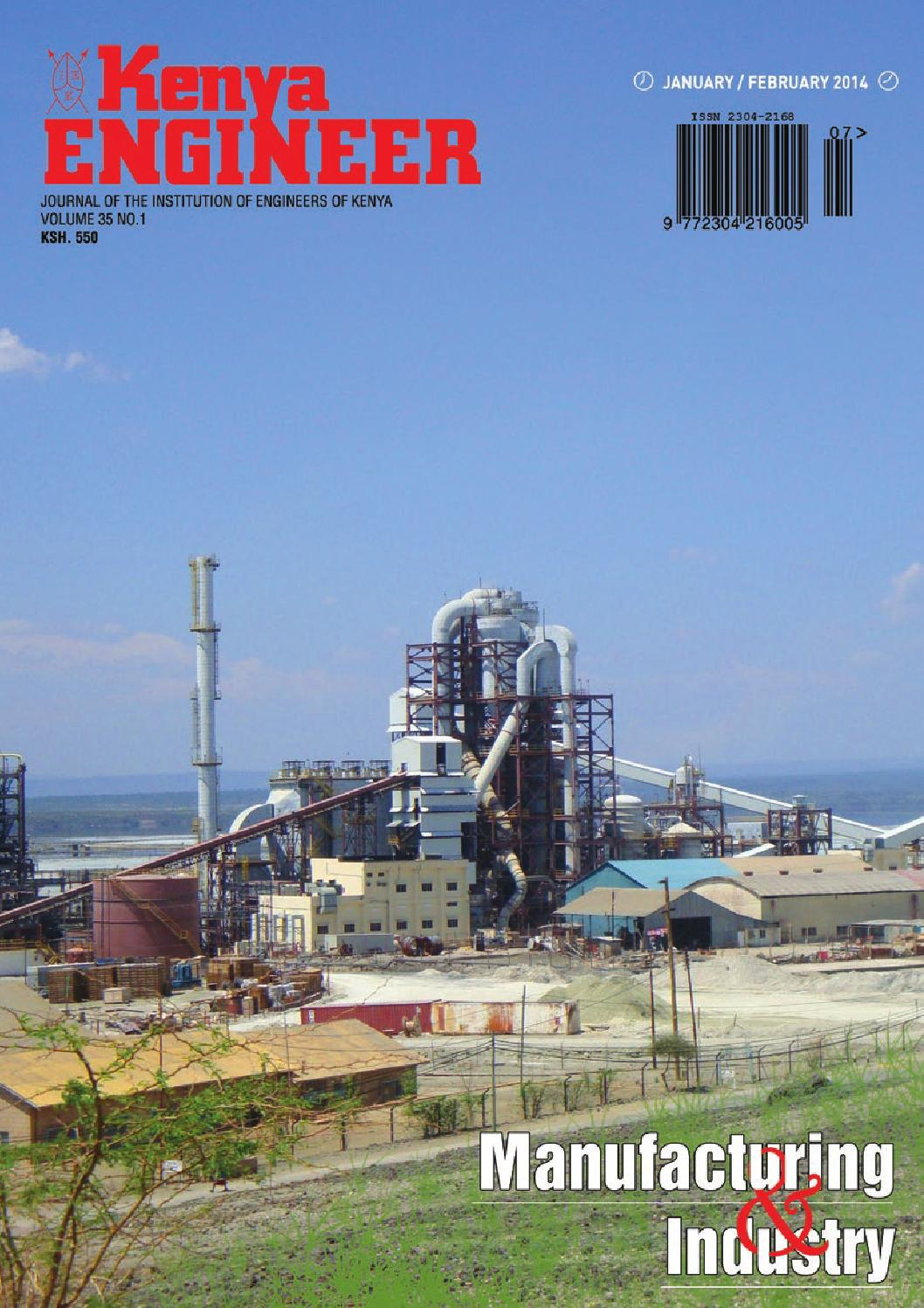 Kenya engineer january february 2014 by kenya Engineer - issuu