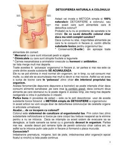 detoxifierea naturală a colonului)