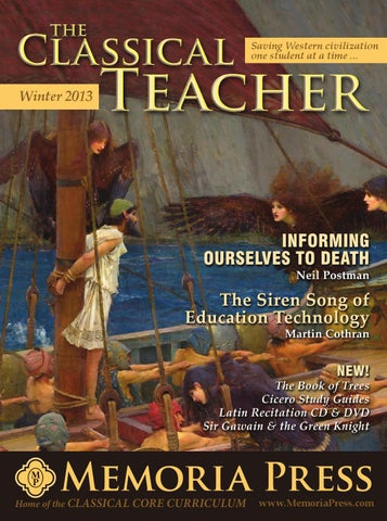Classical teacher winter 2013 for website by memoria press issuu page 1 fandeluxe Images