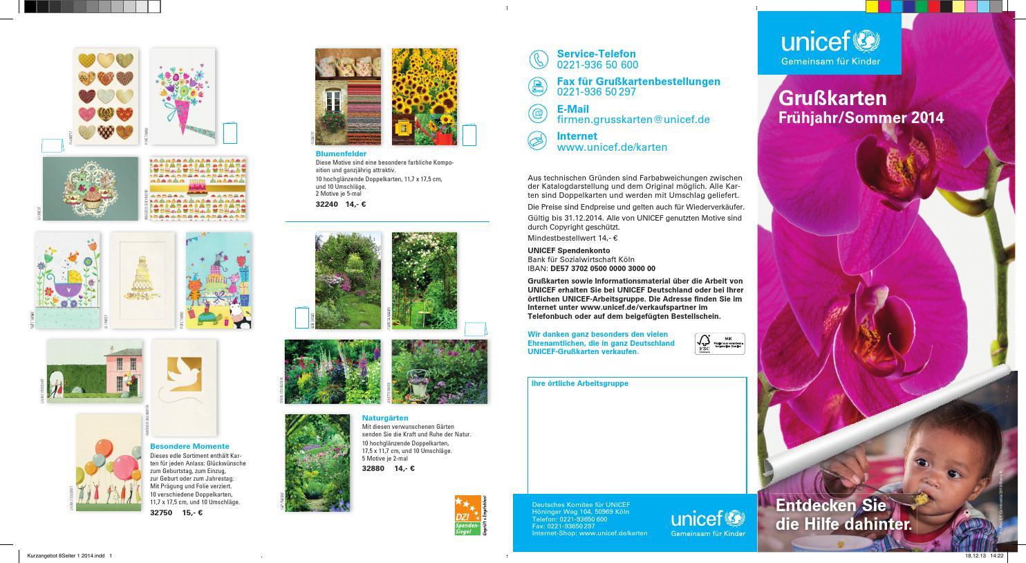 unicef grusskarten firmenkunden katalog by unicef. Black Bedroom Furniture Sets. Home Design Ideas