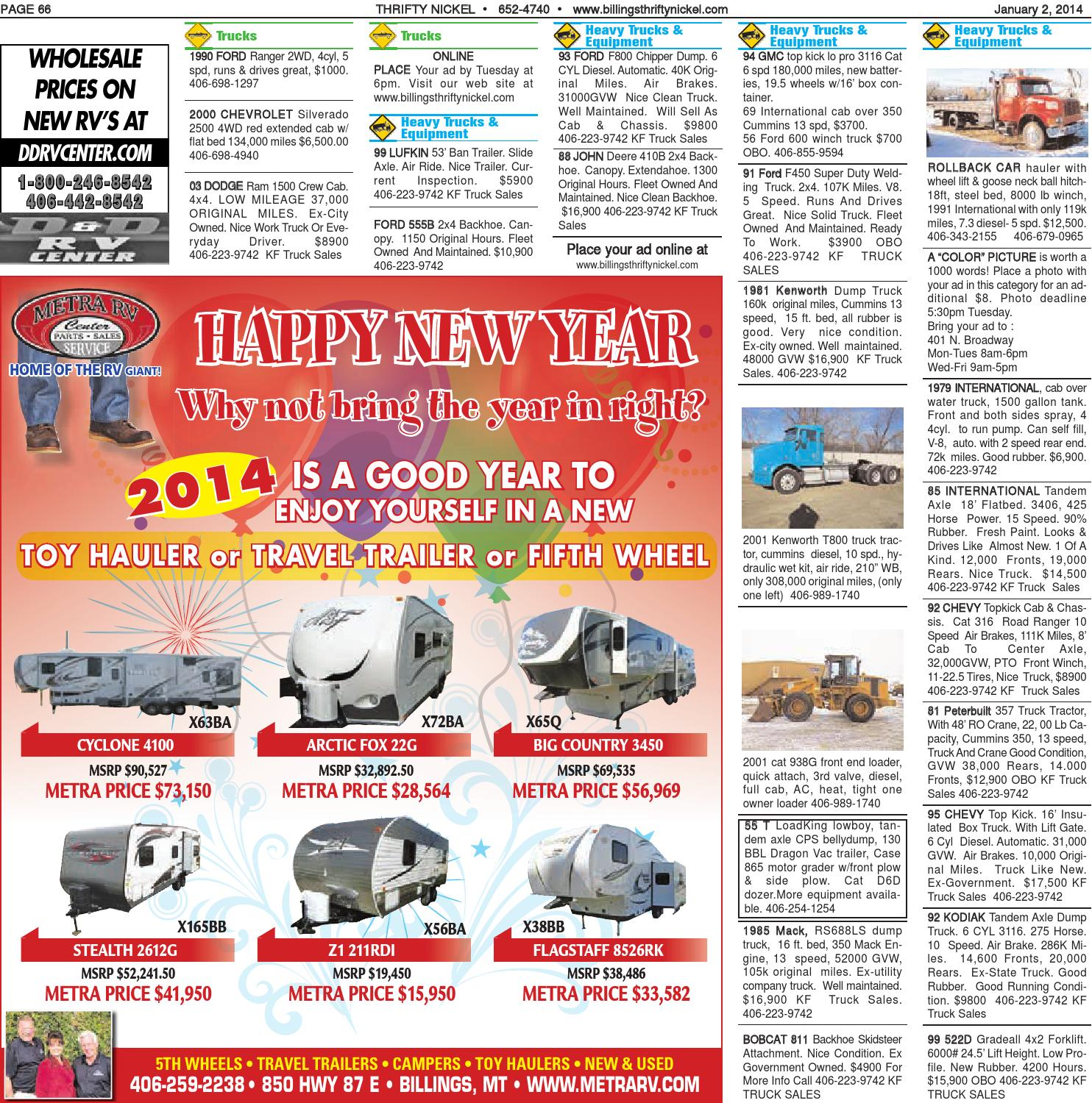 Thrifty Nickel Jan  3 by Billings Gazette - issuu