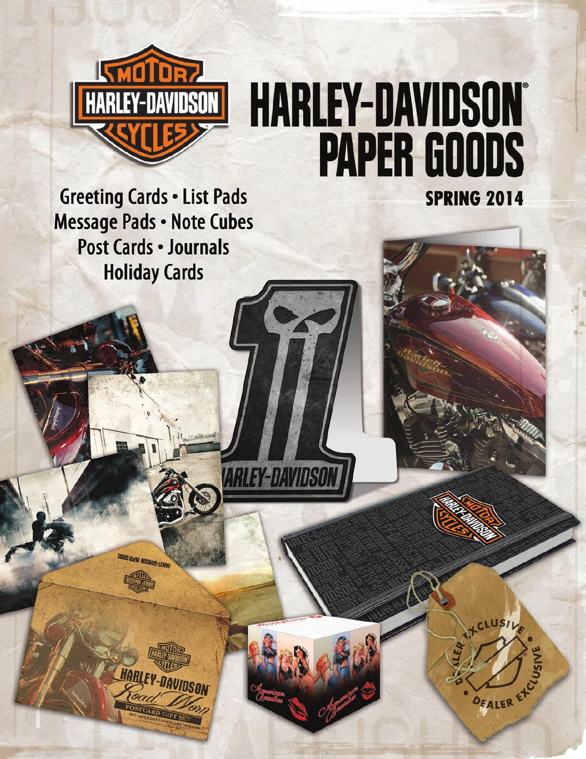 Harley davidson paper goods catalog spring 2014 dealer by ace harley davidson paper goods catalog spring 2014 dealer by ace product management group inc issuu kristyandbryce Gallery