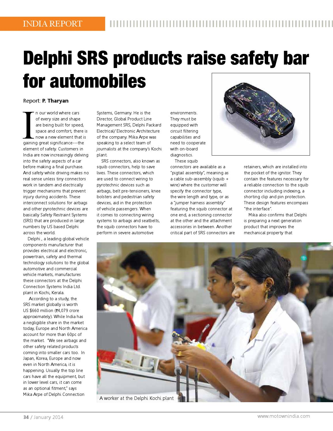 Motown India January 2014 By Issuu Delphi Wiring Harness
