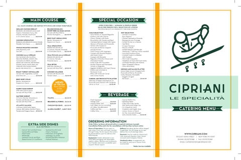 Cipriani Le Specialita Catering Menu By