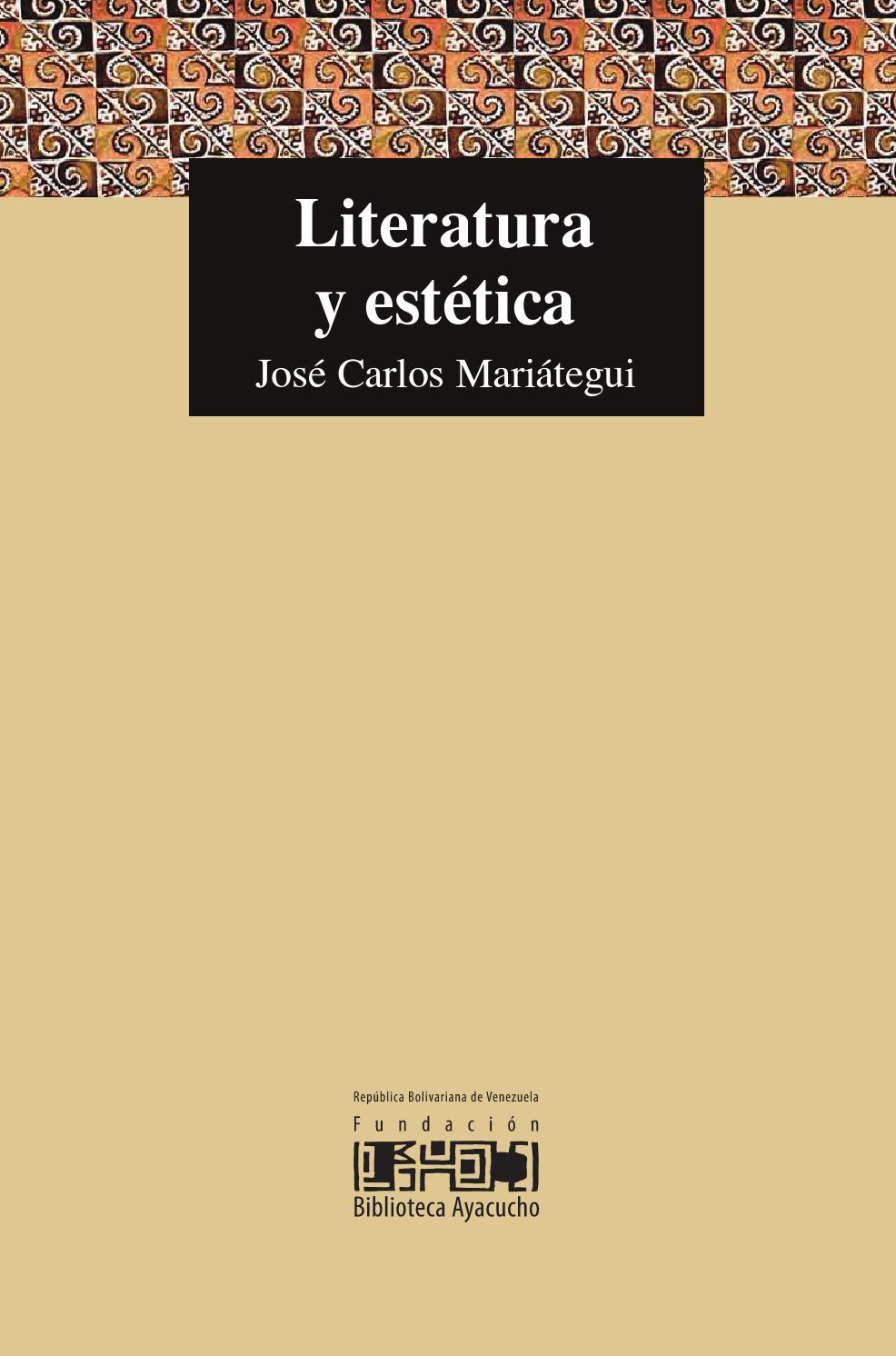 Literatura y Estetica JC Mariategui by BIBLIOPERU - issuu