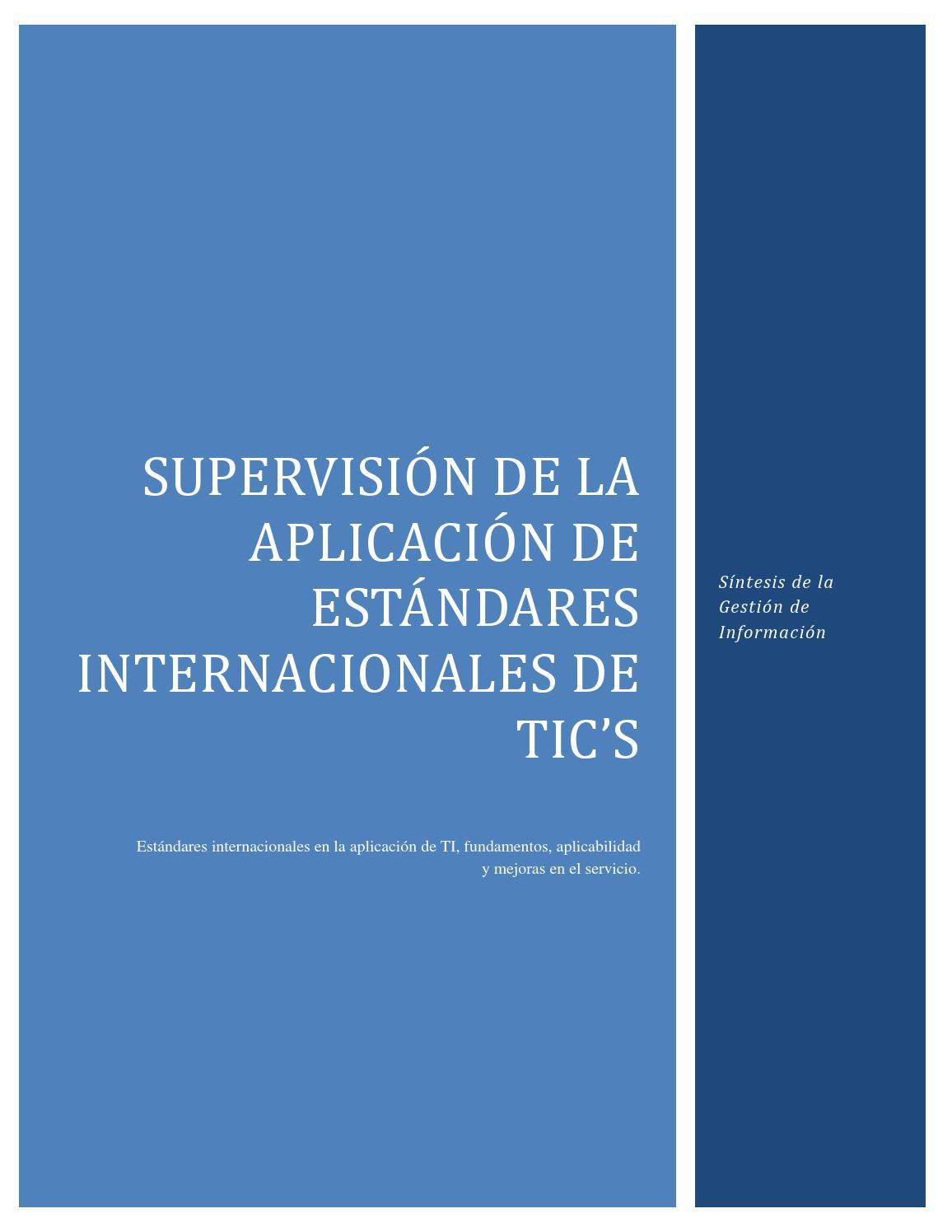 Estándares Internacionales TIC by Teresa Carmen Rodriguez Parada - issuu