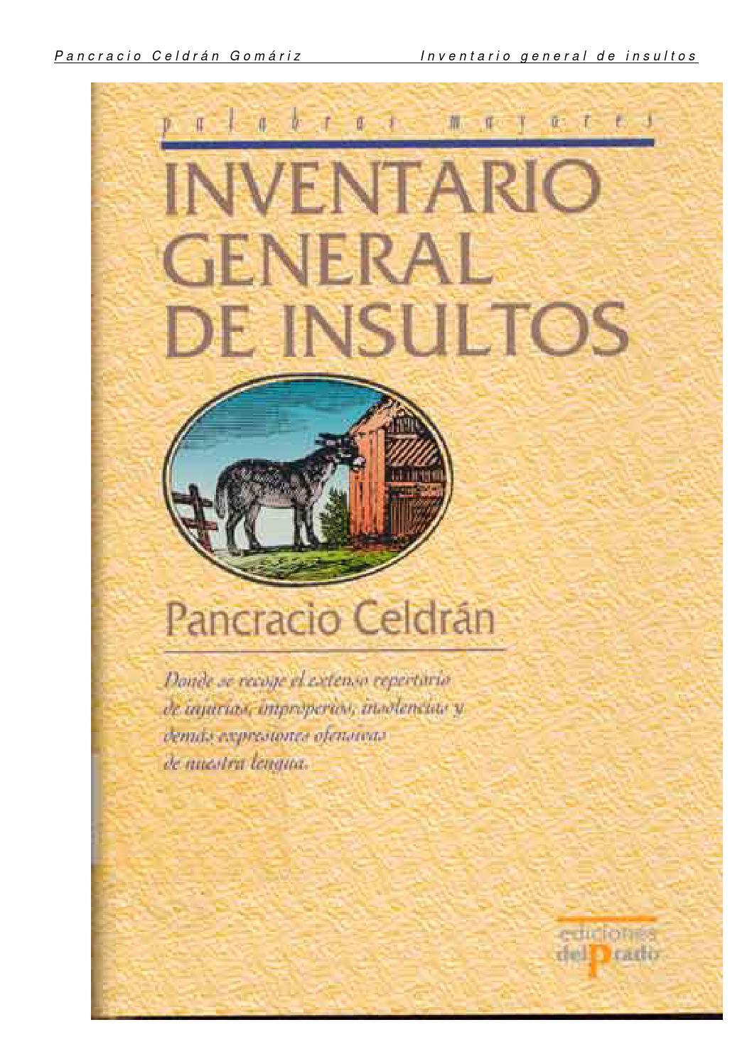 Inventario De Los Insultos By Vicente J Casanova Rubio Issuu