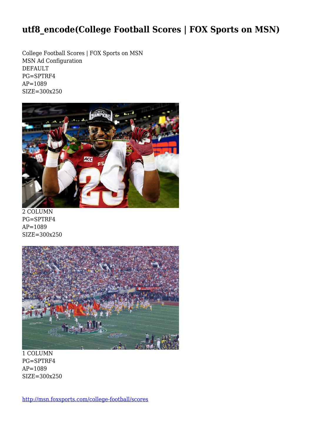 College Football Scores Fox Sports On Msn By Grandiosecongre14 Issuu