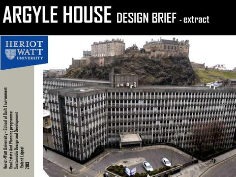 Argyle House Design Brief Extract By Roland Láposi Issuu