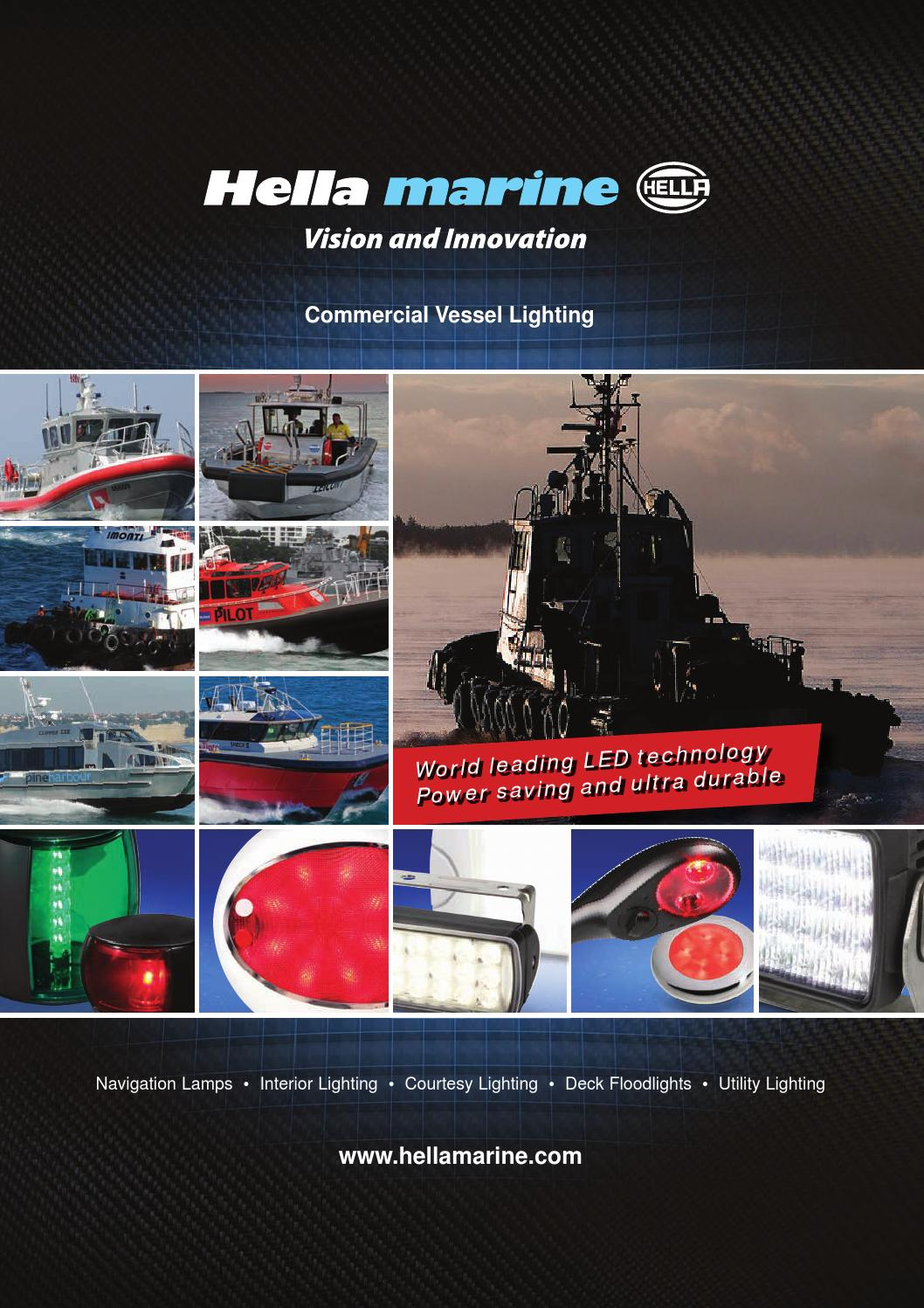 hella marine commercial vessel brochure international by. Black Bedroom Furniture Sets. Home Design Ideas
